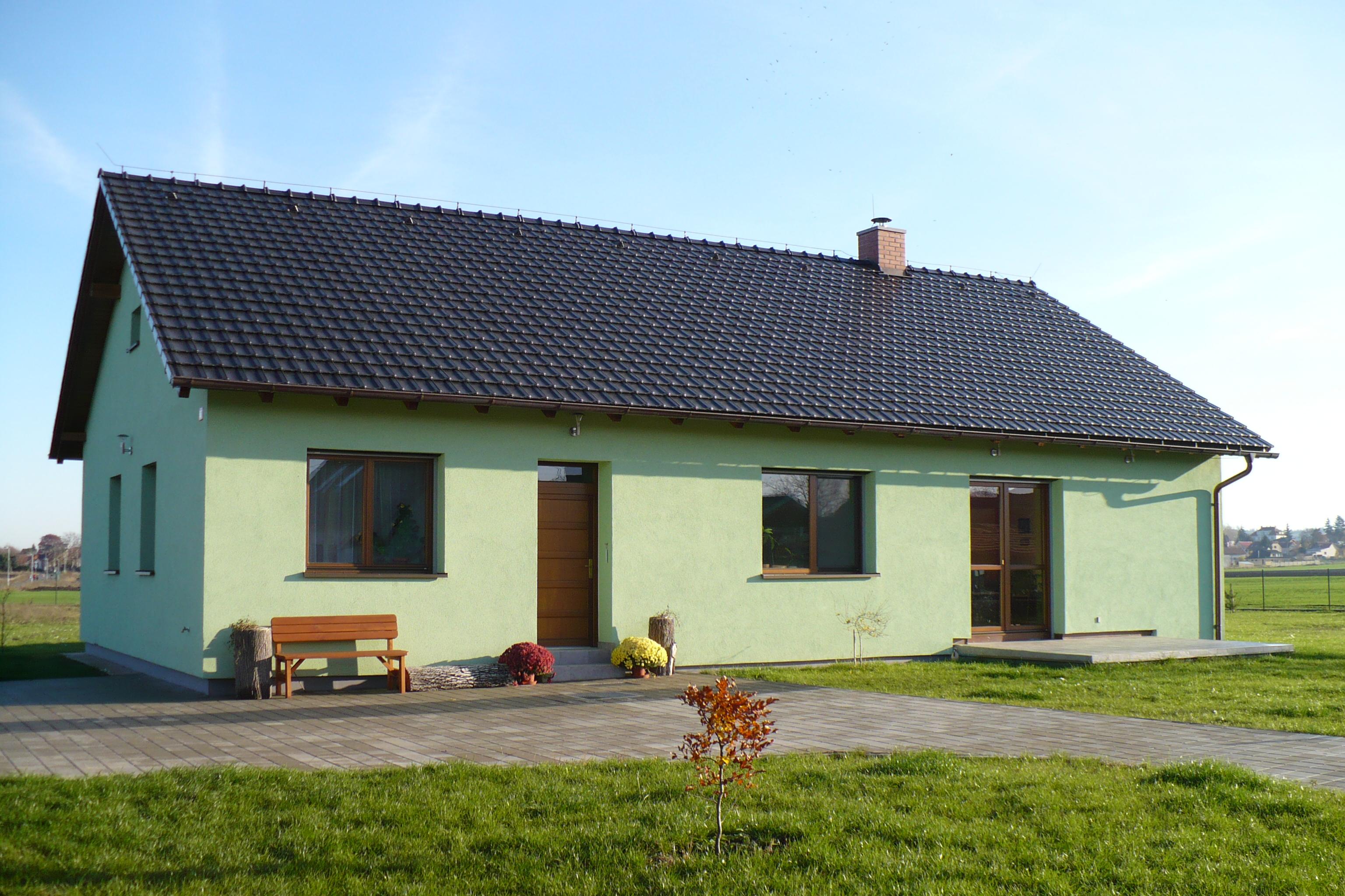 Omítání fasáda domu